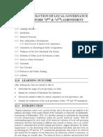 12 Evolution of Local Governance (Before 73rd & 74th) Amendment