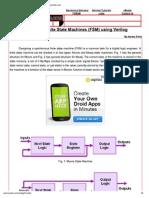 FSM design using verilog