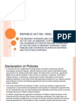 PPT of RA 10022 or the Migrant Workers Act
