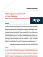 Políticas de juventud en América Latina-Rodríguez