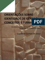 ORIENTAÇÕES SOBRE IDENTIDADE DE GÊNERO  CONCEITOS E TERMOS - 2ª Edição