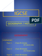 IGCSE Geography and History