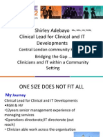 Shirley Adebayo - 'Bridging the Gap.. Clinicians and IT within a Community Setting