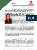Carta Entregada Al Presidente de La Comunidad de Madrid