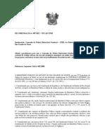 RECOMENDAÇÃO nº 007/2012 – NUCAP/CPRE   Destinatário