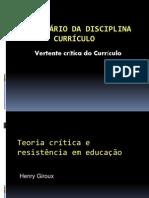SEMINÁRIO CURRÍCULO