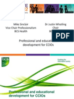 Mike Sinclair & Dr Justin Whatling - 'Professional and educational development for CCIOs