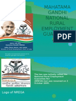 Mahatama Gandhi National Rural Employment Guarantee Act