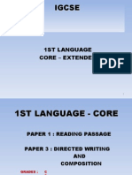 IGCSE First Language