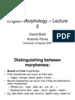 English Morphology 2