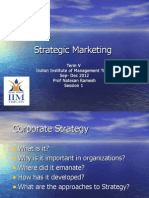 Strategic Marketing- Lecture -Session 1