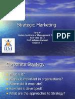 Strategic Marketing- Lecture -Session 1