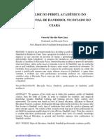 O perfil do profissional de Handebol no estado do Ceará