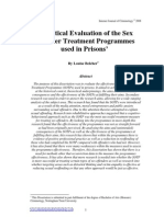 Belcher - A Critical Evaluation of Sex Offender Treatment Programmes used in Prisons