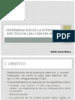 Determinación de la potencia efectiva de las CCHH