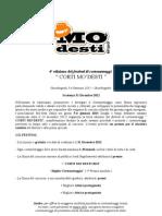 Bando e Regolamento - Corti Mo'desti 2013