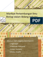 Manfaat Biologi bidang Industri