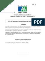 n 3 Tarifs Certificats Immatriculation 2013