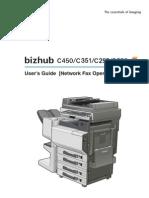 50834170 Bizhub C450 C351 C252 C250 Network Fax Operations User Manual