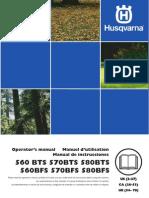 Husqvarna 580BTS Owners Manual
