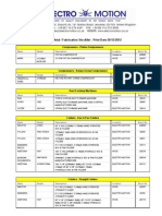 Electro Motion Sheet Metal Fabrication Stock List (2)