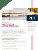 Proyecto de Ley Tarifaria PBA 2013