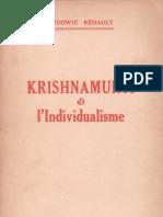 Krishnamurti et l'individualisme, par  Ludowic Réhault