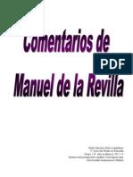 Sobre Manuel de la Revilla