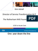 Kim Ashall - 'CCIO in Acute Care'