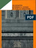 Estado y Gestión Pública-Desafios para una transformación. 2006