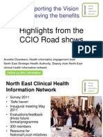 Annette Chambers - 'Highlights from theCCIO Road shows'