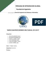 Análisis critico del Marco Macroeconómico multianual 2013