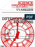 Sfe Differential Equations in Applications Amelkin