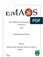 Early Mdvl Archaeology Symposium Dublin