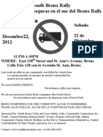 Safe Streets Rally December 2012 Flier