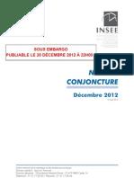 Note de conjoncture de l'Insee (Dec 2012)