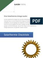 Solarthermie-Checkliste