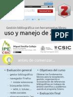 Gestión bibliográfica con herramientas libres: uso y manejo de Zotero
