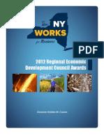 New York 2012 Regional Economic Development Councils Funding booklet