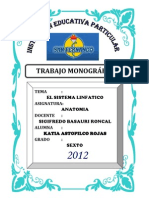 Monografia de Katia Isabel Sistema Linfatico