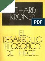El desarrollo filosofico de Hegel