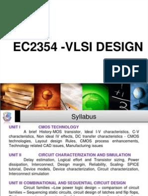 ec2354 vlsi design lecture notes