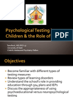 Psychological Testing for Children