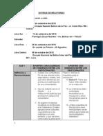 Síntesis de Relatorías de las Audiencias públicas - Proyecto de Ordenanza Cultura Viva Comunitaria de Lima Metropolitana.