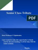 Senior Class Tribute 2012