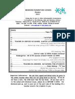 January 2013 Dates of Interest