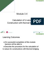 calculaton of u valve thermal brizzing