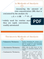 Titrimetric Methods of Analysis