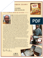 A note from Author Paul Fleischman on The Matchbox Diary