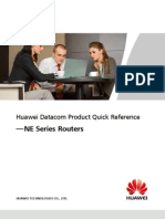Huawei Datacom Product Quick Reference --NE Series Routers(20080121)